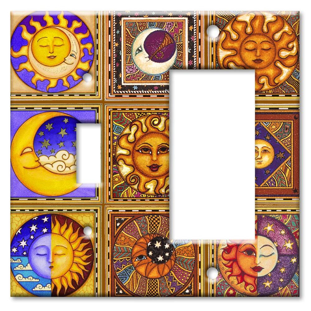 Art Plates Celestials Switch/Rocker Combo Wall Plate