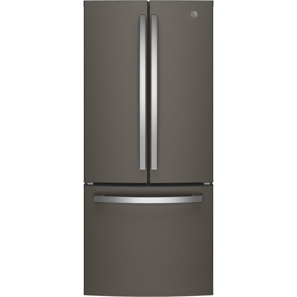 GE 20.8 cu. ft. French Door Refrigerator in Slate, Fingerprint Resistant and ENERGY STAR