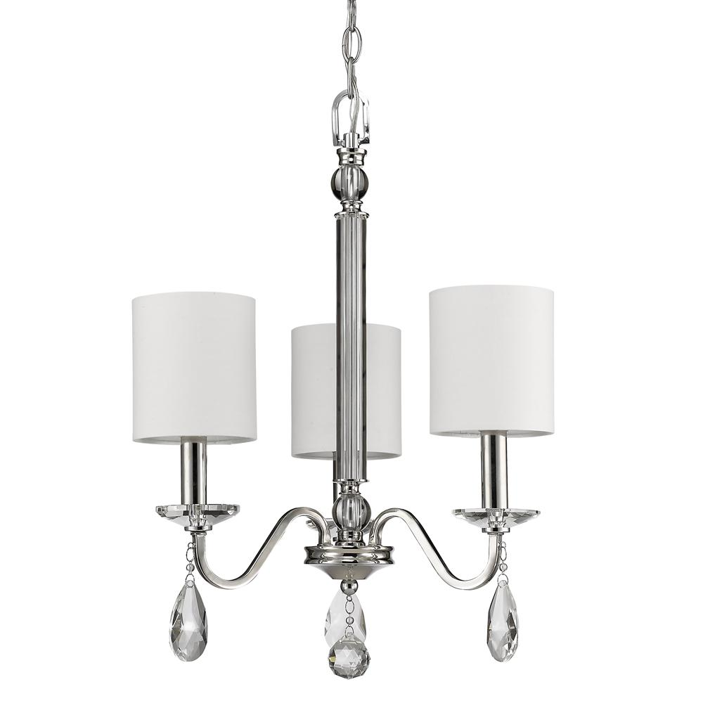 Acclaim lighting lily 3 light indoor polished nickel mini acclaim lighting lily 3 light indoor polished nickel mini chandelier with shades and crystal pendants arubaitofo Images