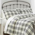 Adderley 3-Piece Black and White Plaid King Comforter Set