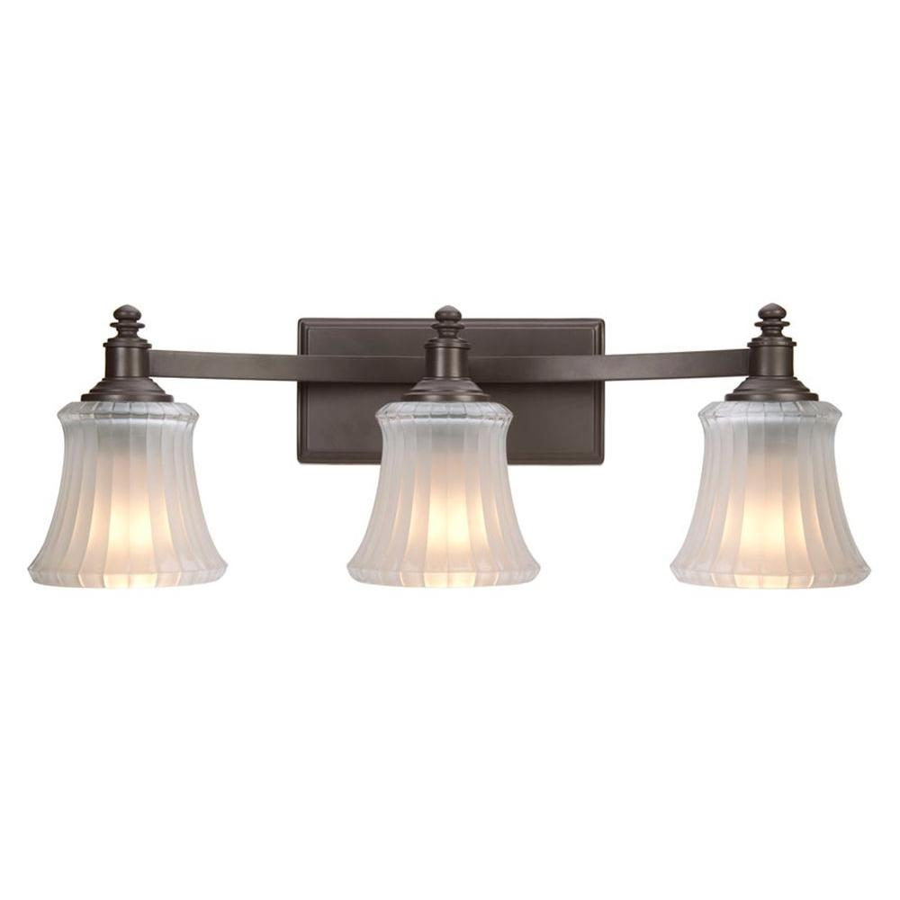 Hampton Bay Kenning 3 Light Dutch Bronze Bath Sconce