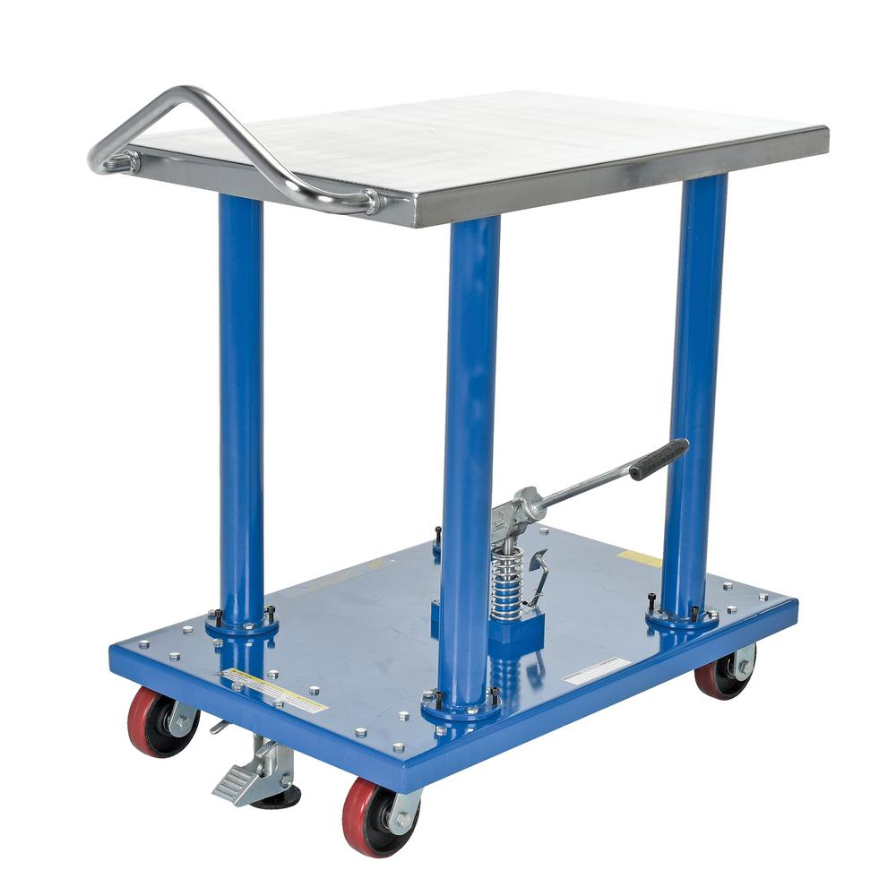 2,000 lb. Capacity 24 in. x 36 in. Hydraulic Post Table