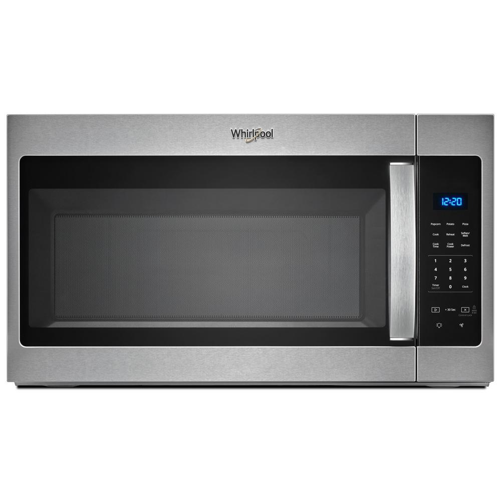 Whirlpool 30 In W 1 7 Cu Ft Over The Range Microwave Fingerprint