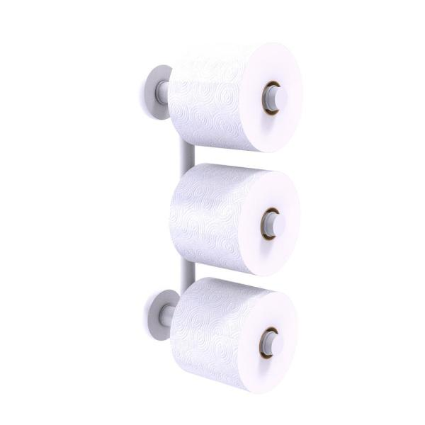 Allied Brass Prestige Skyline Collection 3 Roll Reserve Roll Toilet Paper Holder In Matte White P1000 24 3 Whm The Home Depot