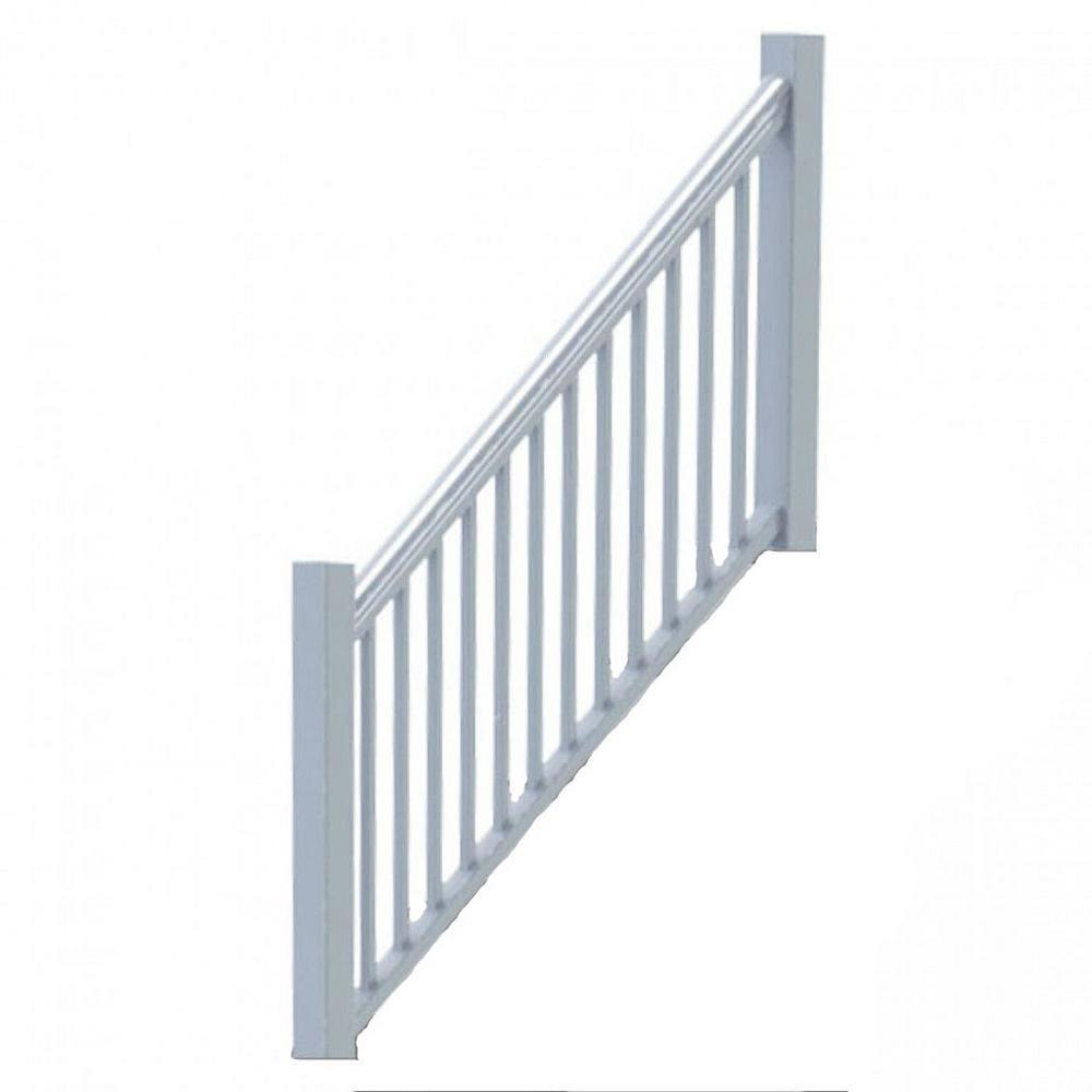 Original Rail Vinyl 8 ft. x 36 in. 32°-38° Stair Rail Kit Including Square Baluster in White