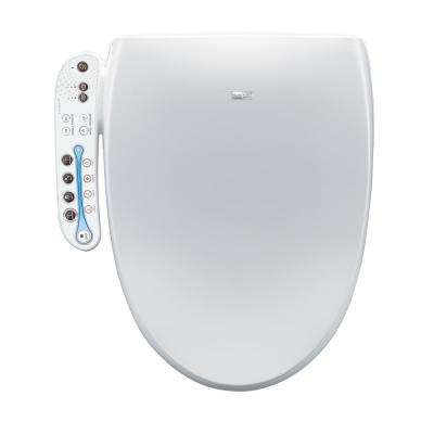 Electric Bidet Seat for Elongated Toilets in White