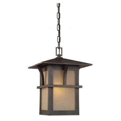 Medford Lakes 1-Light Statuary Bronze Outdoor Hanging Pendant