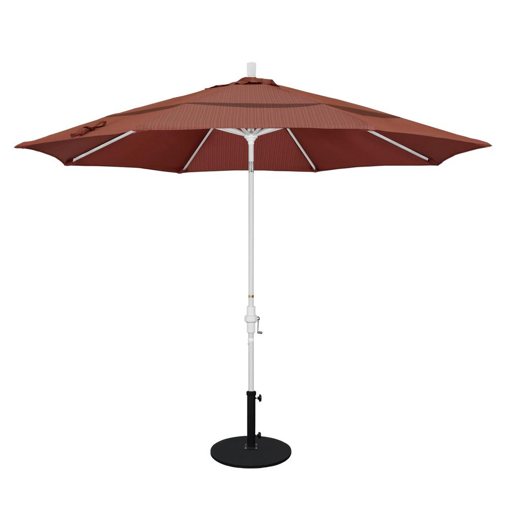 California umbrella 11 ft aluminum collar tilt double for Terrace umbrellas