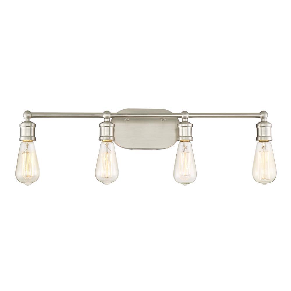 4-Light Brushed Nickel Bath Light