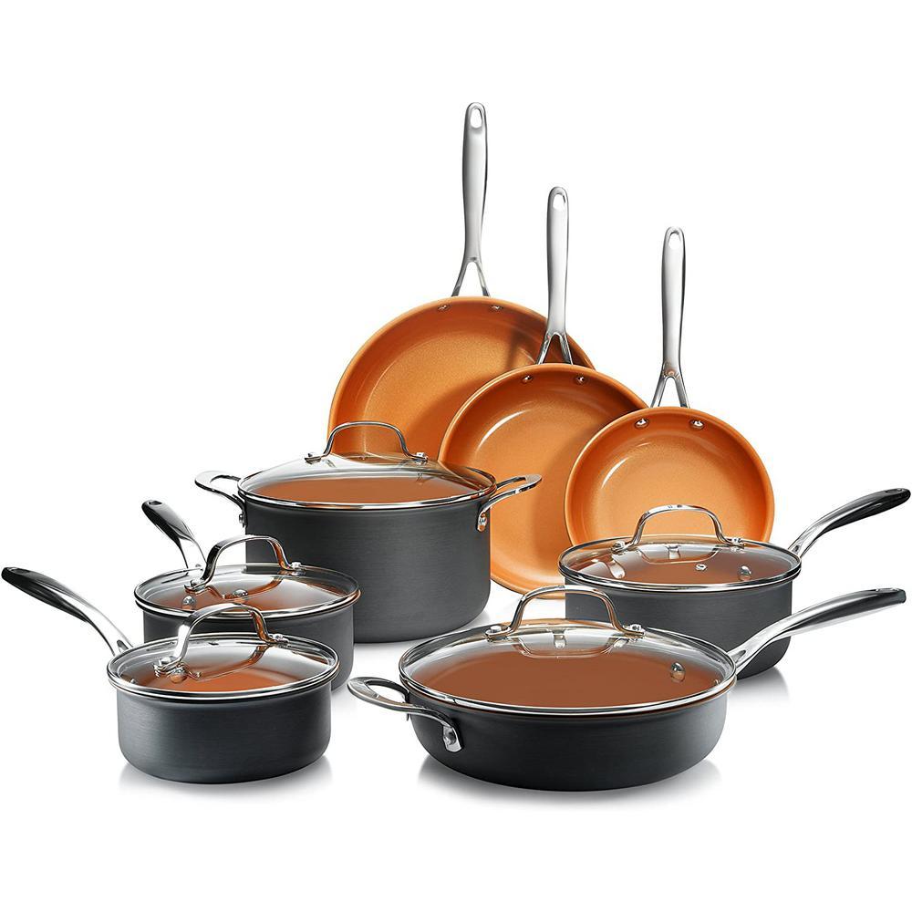 Pro 13-Piece Hard Anodized Aluminum Ti-Ceramic Nonstick Ultimate Cookware Set