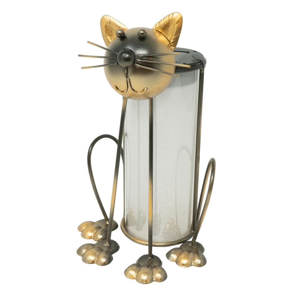 Moonrays Moonrays Cat Solar Lantern