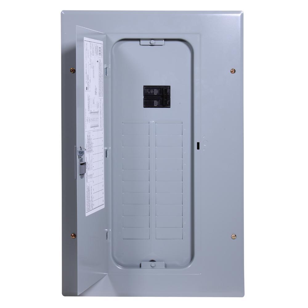PowerMark Gold 100 Amp 20-Space 20-Circuit Indoor Main Breaker Circuit Breaker Panel