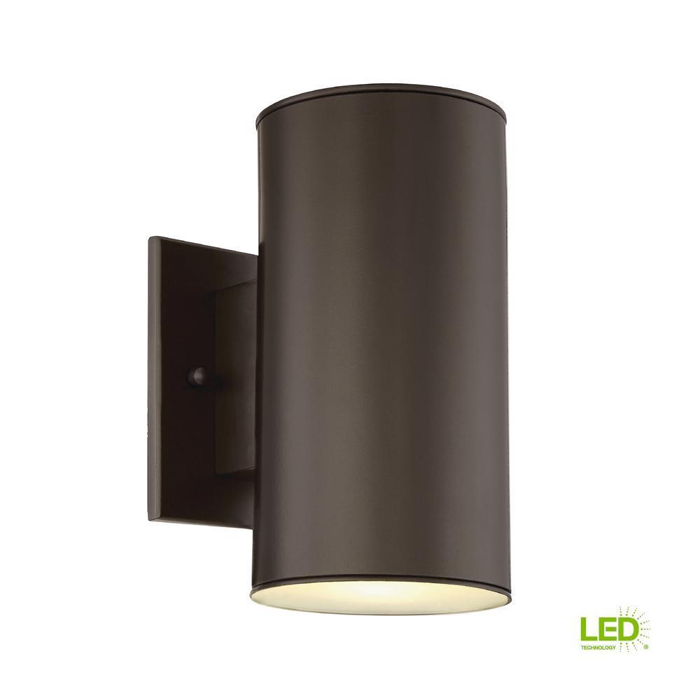 Barrow 11-Watt Oil Rubbed Bronze Outdoor Integrated LED Wall Mount Lantern