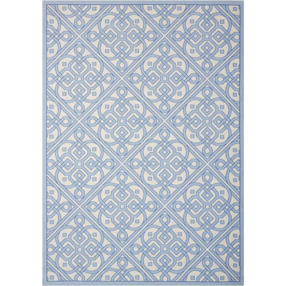 Waverly Lace It Up Aquarium 5 ft. x 7 ft. Indoor/Outdoor Area Rug