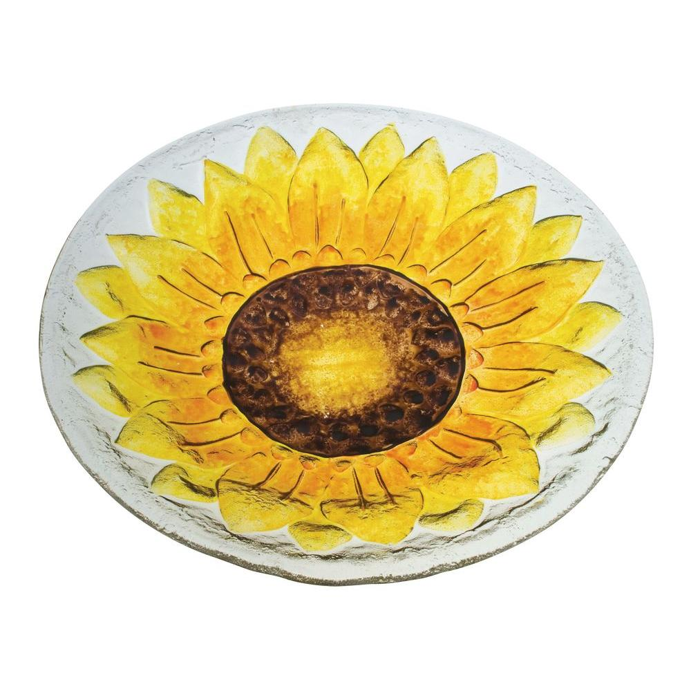 Evergreen Enterprises Sunflower Glass Birdbath