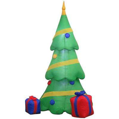 6.5 ft. Inflatable Airblown-Christmas Tree with Gift Box