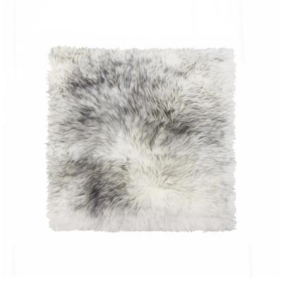 New Zealand Gradient Gray Sheepskin Chair Seat Cover