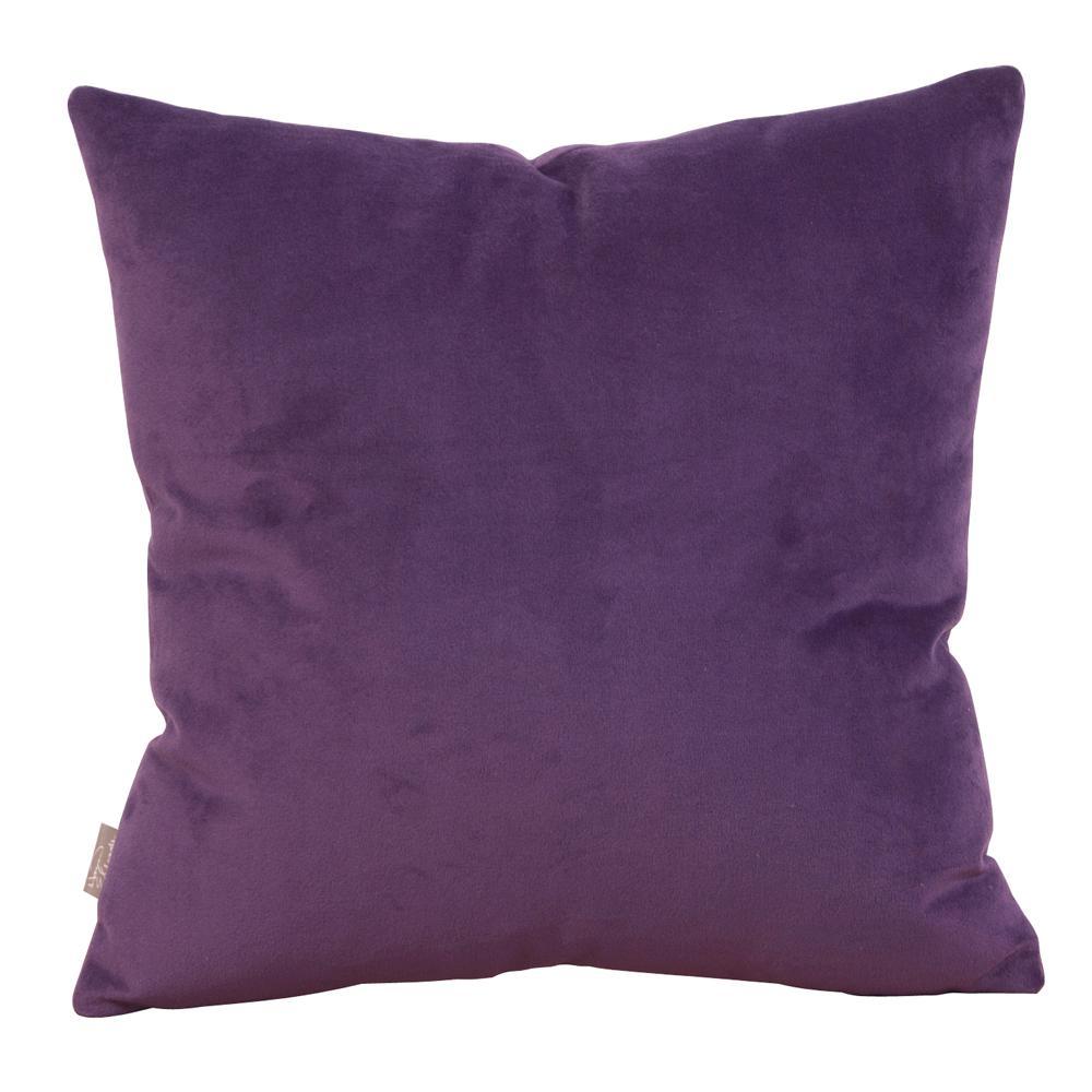Bella Purple Eggplant 20 in. x 20 in. Decorative Pillow
