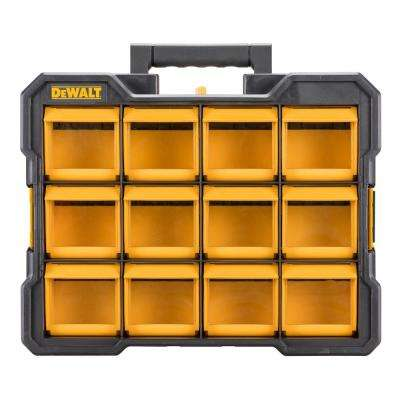 12-Compartment Small Parts Organizer Flip Bin