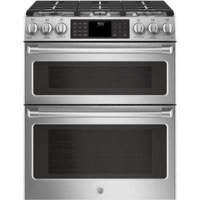 6.7 cu. ft. Slide-In Double Oven Smart Gas Range with Self-Cleaning Convection Oven in Stainless Steel