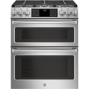 GE Cafe 6.7 cu. ft. Slide-In Double Oven Smart Gas Range with Self-Cleaning... by GE