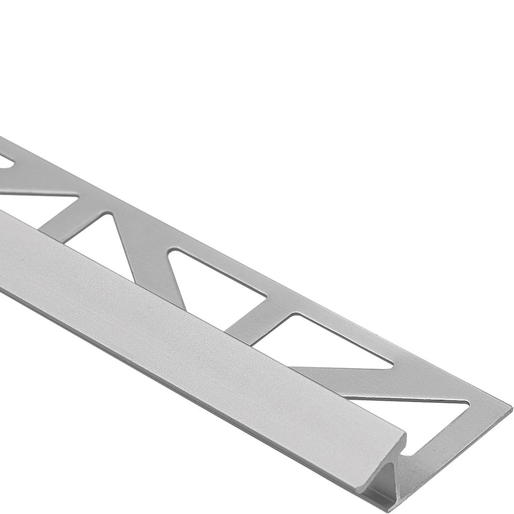 Dural Duratrans Tc Profile 11 32 In X 96 In Anodized Aluminum Silver Tile Edging Trim Dtae Tc 90 The Home Depot