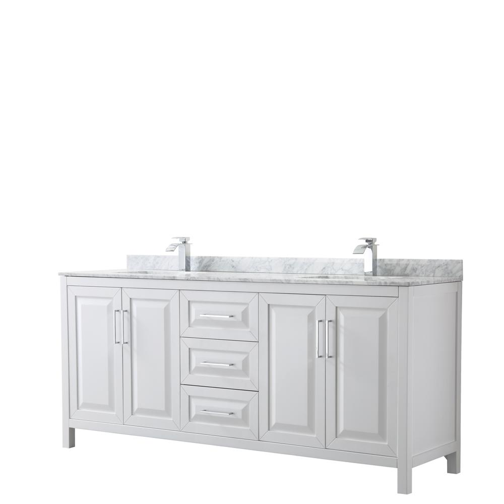 Wyndham Bathroom Vanities: Wyndham Collection Daria 80 In. Double Bathroom Vanity In