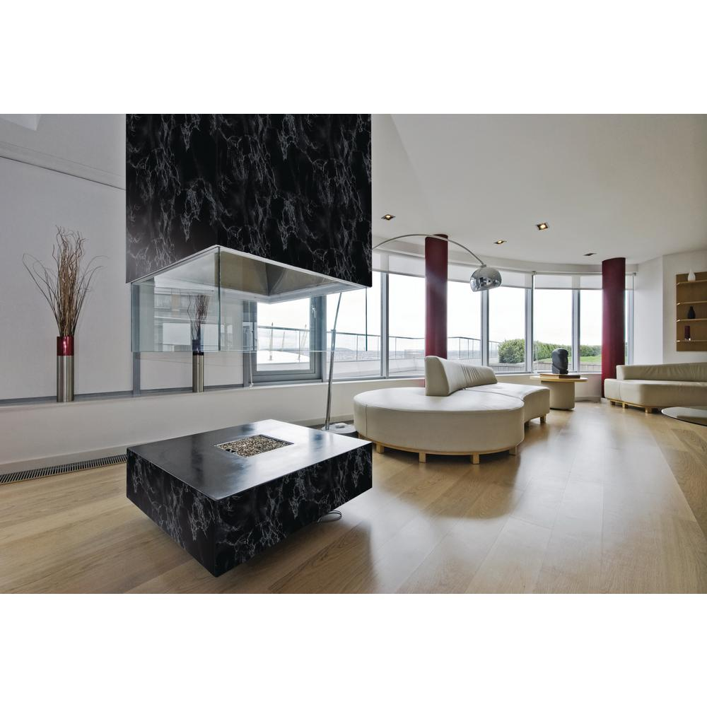 dc fix marble black 26 in x 78 in home decor self adhesive film 96100 the home depot. Black Bedroom Furniture Sets. Home Design Ideas