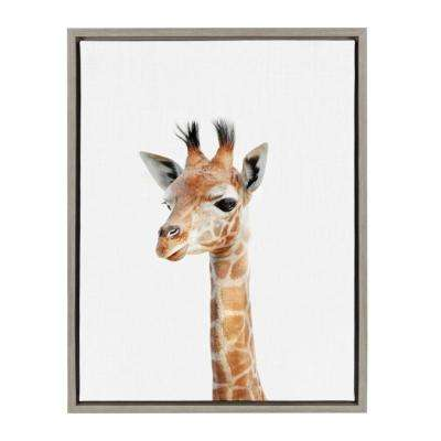 "Sylvie ""Animal Studio Giraffe"" by Amy Peterson Framed Canvas Wall Art"
