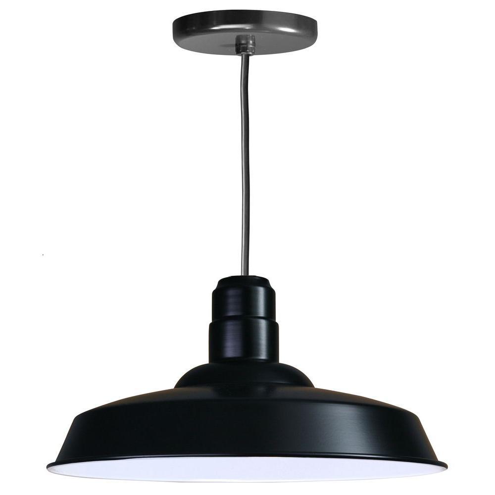Illumine 1-Light Ceiling Black Pendant