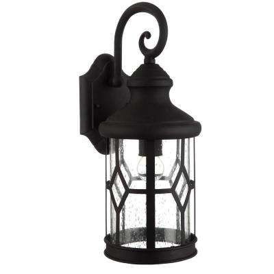 Atlanta 1-Light Outdoor Black Wall Mount Lantern
