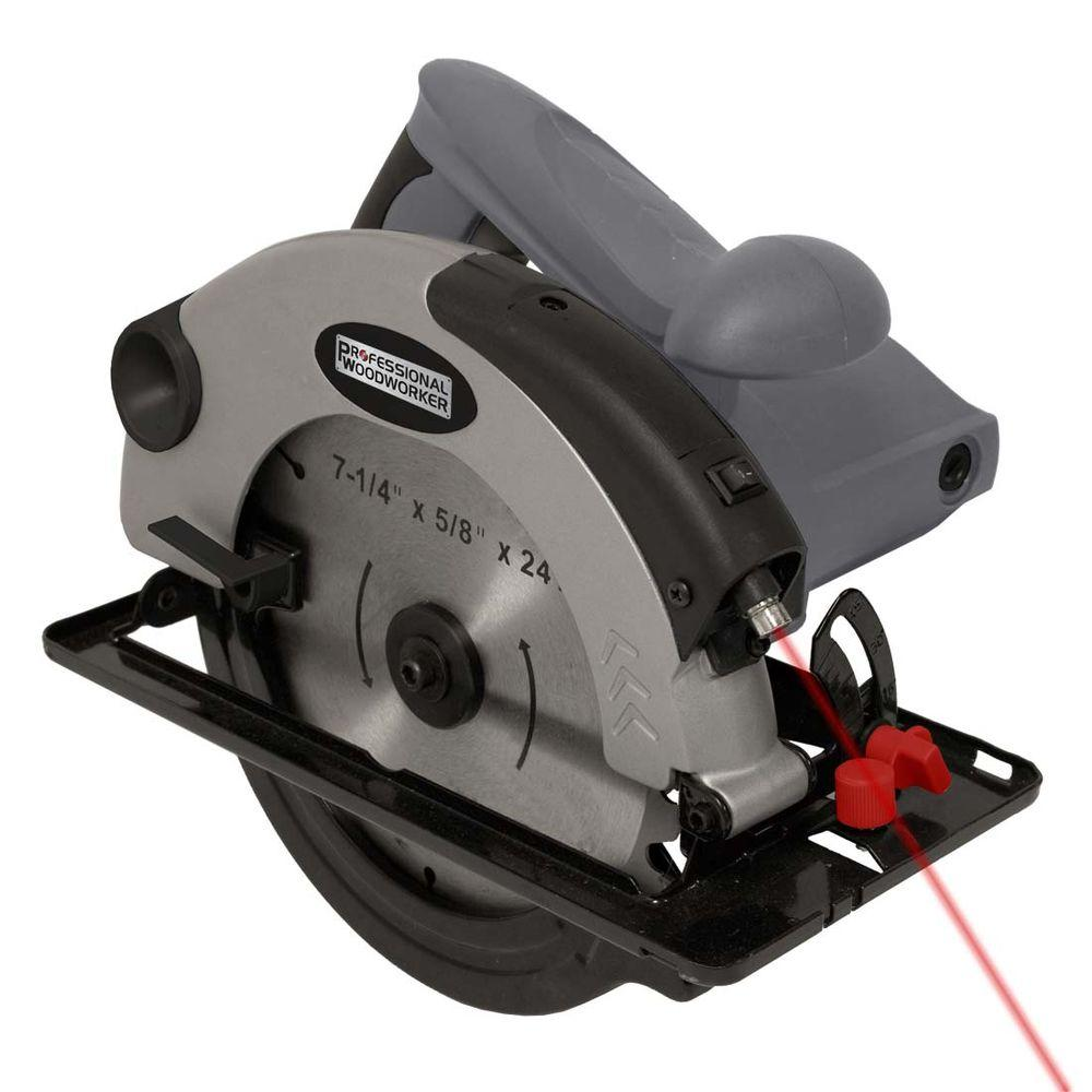 Professional Woodworker 10-Amp 7-1/4 in. Circular Saw Laser Guide