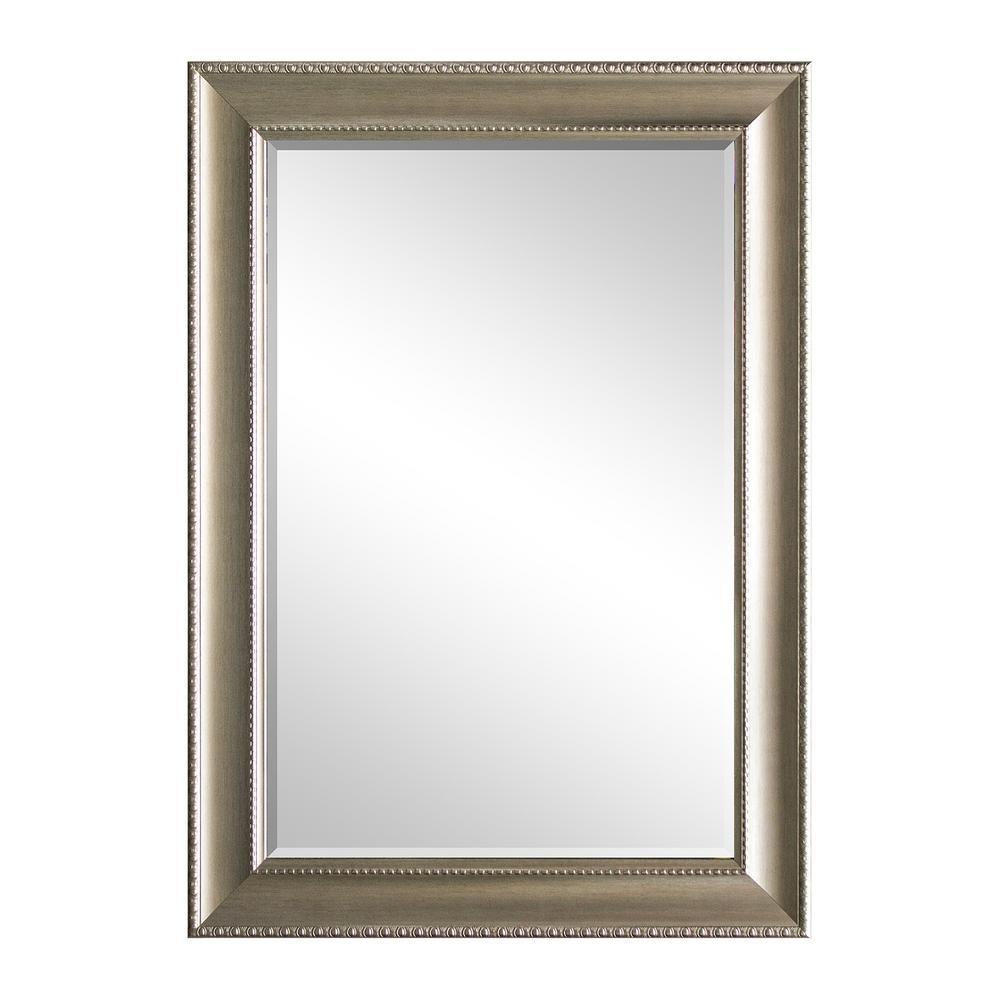 31.5 in. x 43.5 in. Champagne Decorative Mirror