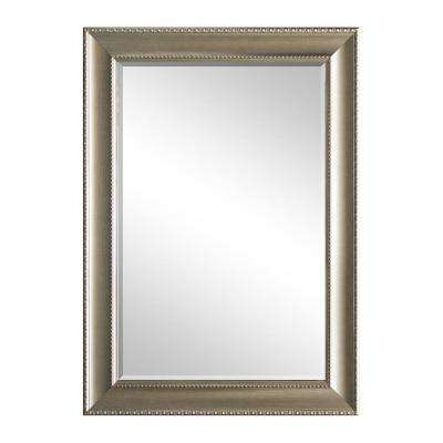 31.5 in. x 43.5 in. Champagne Decorative Mirror
