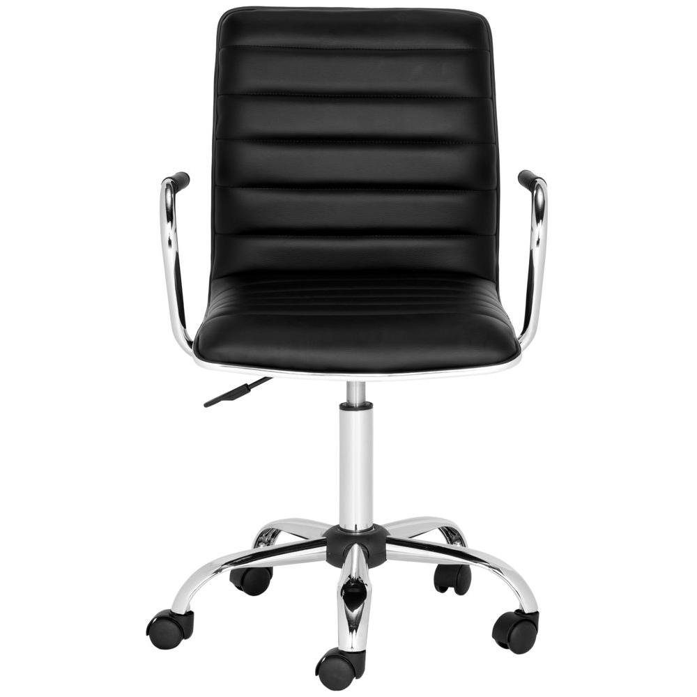 Safavieh Jonika Black Leather Office Chair