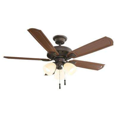 Tucson 48 in. Indoor/Outdoor Oil Rubbed Bronze  Ceiling Fan with Light Kit and Shatter Resistant Shades