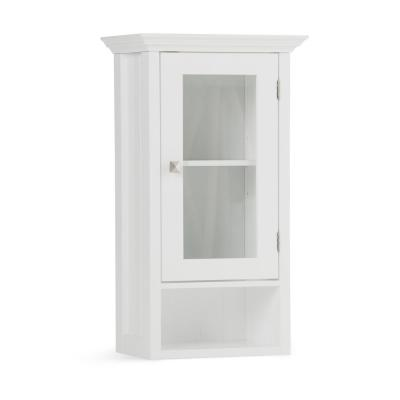 Acadian 15.75 in. W x 28 in. H x 10 in. D Single Door Wall Bath Cabinet in White