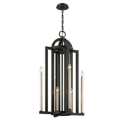 Grayson 8-Light Textured Bronze 20 in. W Pendant