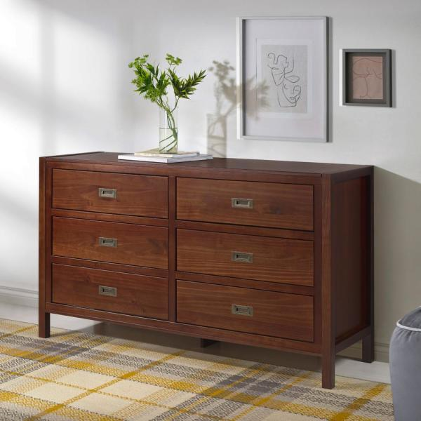 Clic Solid Wood 6 Drawer Dresser