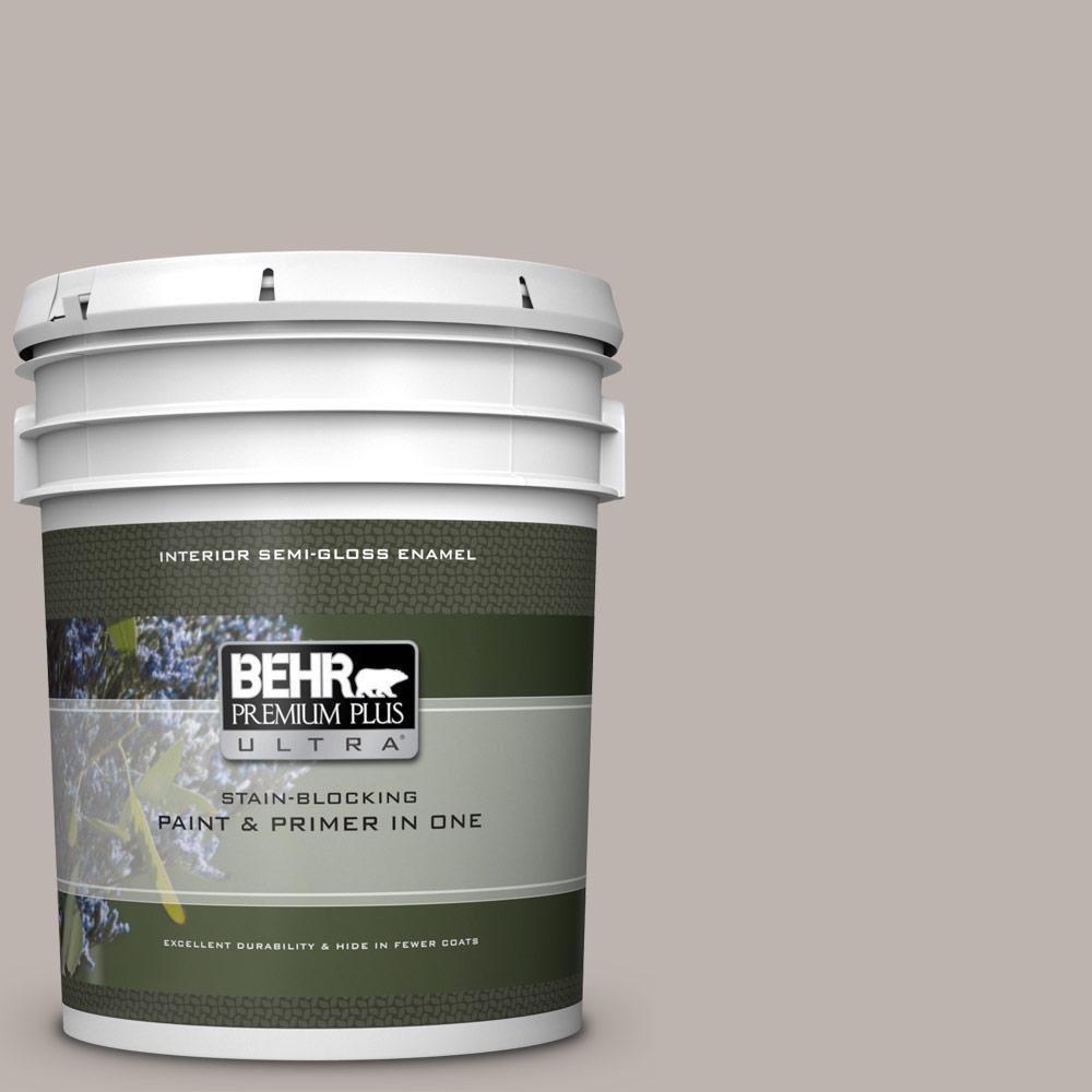 Behr Premium Plus Ultra 5 Gal Ppu18 12 Graceful Gray Semi Gloss