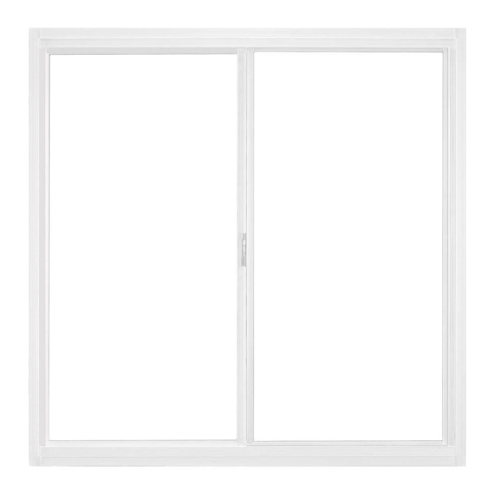 JELD-WEN 35.5 in. x 35.5 in. A-200 Series Sliding Aluminum Window with Low-E Glass - White