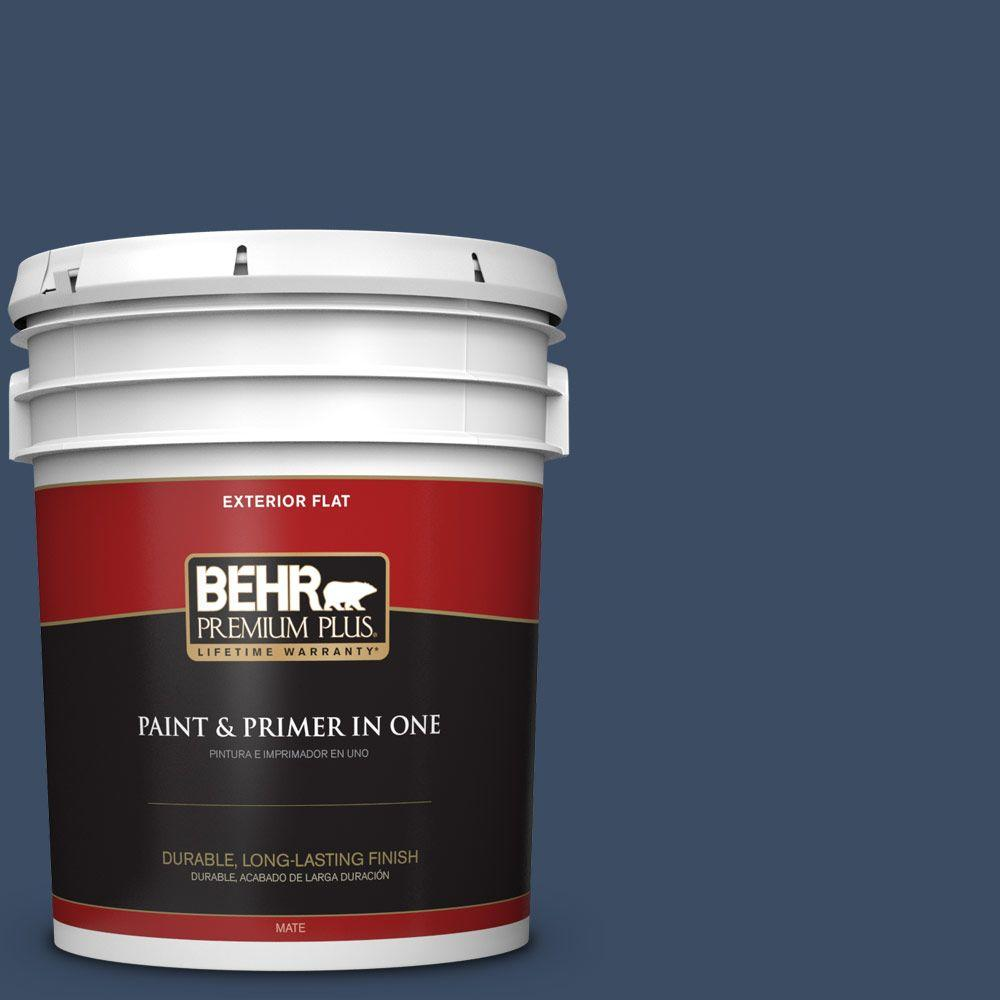 BEHR Premium Plus 5-gal. #580F-7 December Eve Flat Exterior Paint