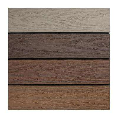 UltraShield Naturale 1 ft. x 1 ft. Composite Quick Deck Outdoor Deck Tile Sample in Multicolor