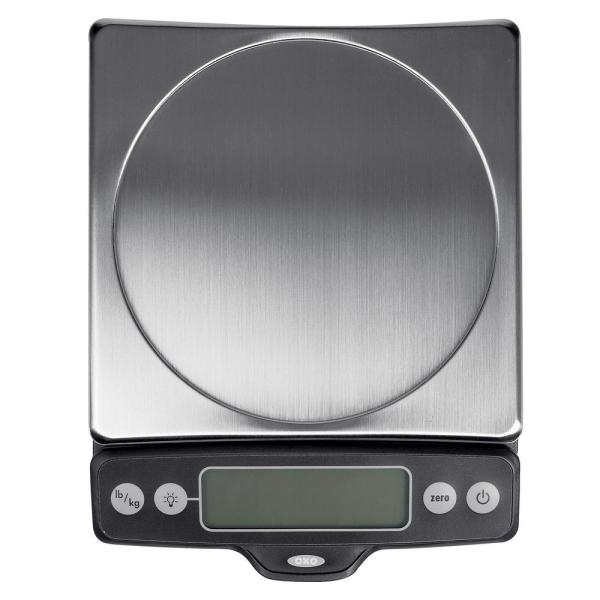 OXO Good Grips Stainless Steel 11 lb. Pull-Out Display Food Scale