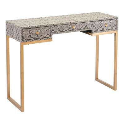 Lecce White Console Table
