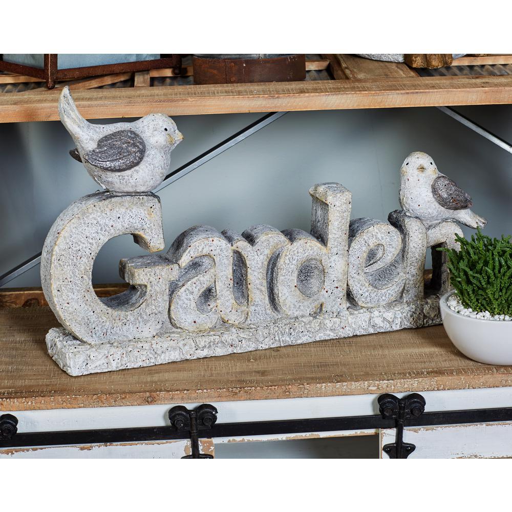 Outdoor GARDEN Decorative Sign with 2-Bird Figures