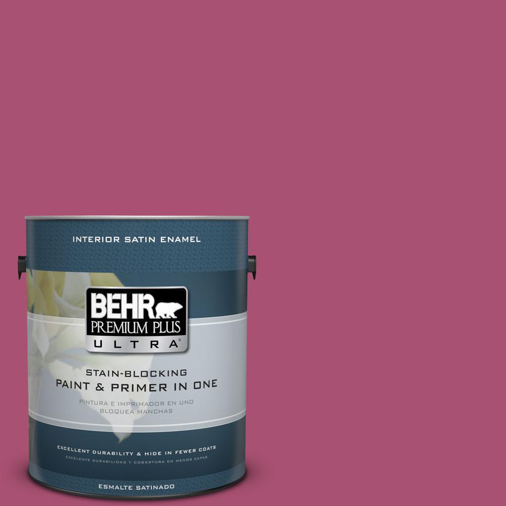 BEHR Premium Plus Ultra 1-gal. #110B-6 Cran Brook Satin Enamel Interior Paint