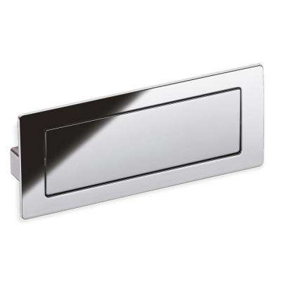 Center To Polished Chrome Covered Flush Cabinet Pull
