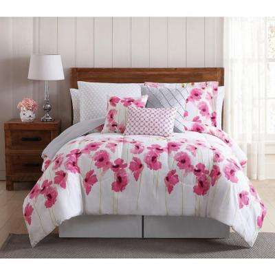 Springfield Floral 12-Piece Multi-Color Queen Bed Ensemble