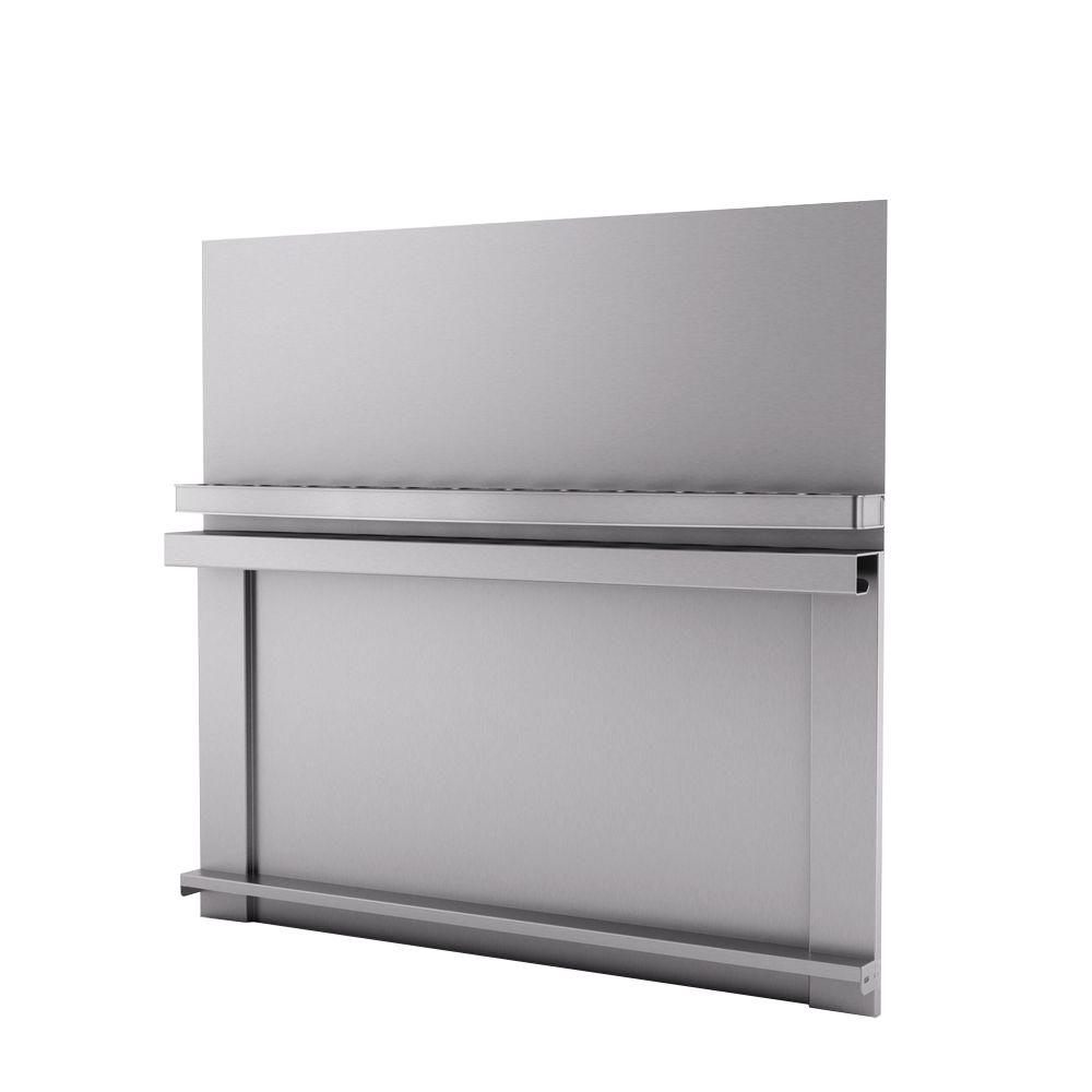 Inoxia Spicy 30 in. x 30 in. Stainless Steel Backsplash